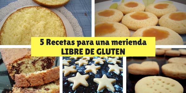 5 Recetas para una merienda libre de gluten