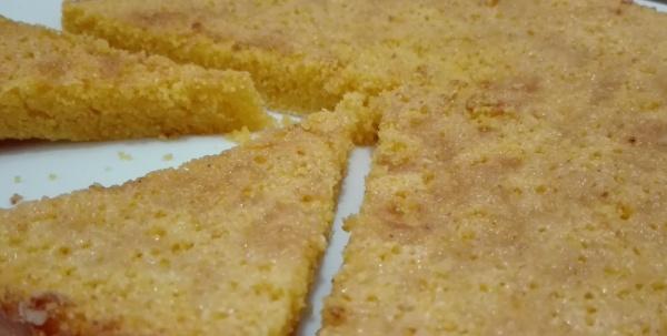 bizcochuelo de polenta sin gluten