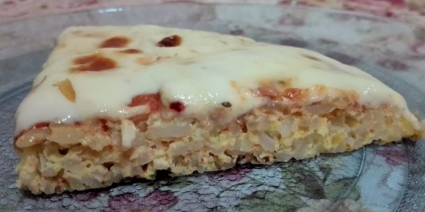 Pizza de arroz sin gluten