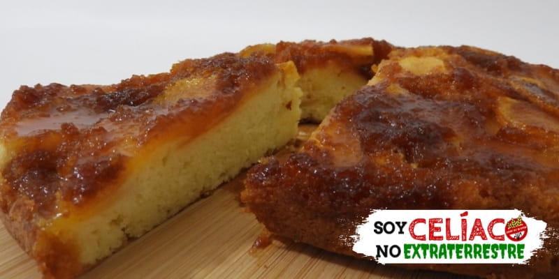 Torta invertida de manzanas sin gluten