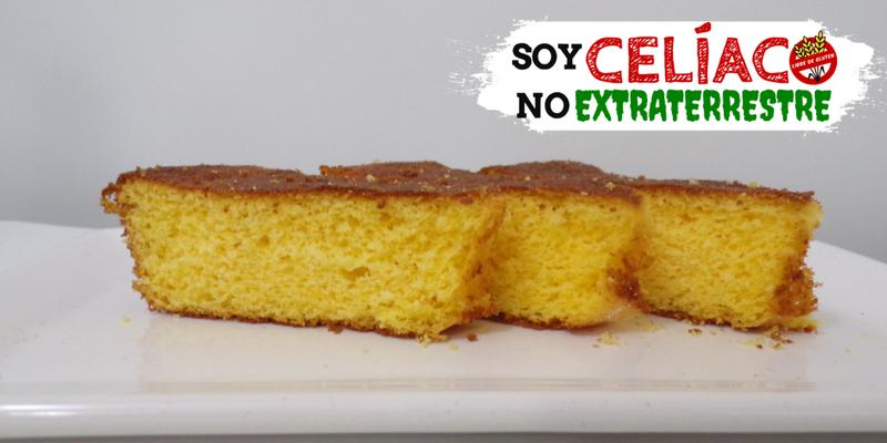 torta sin gluten con harina de maíz