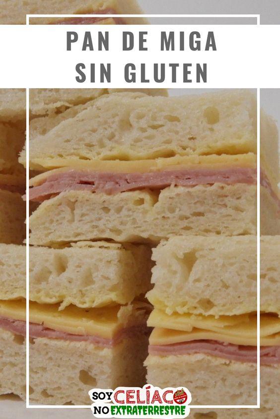 Pan de miga para celíacos