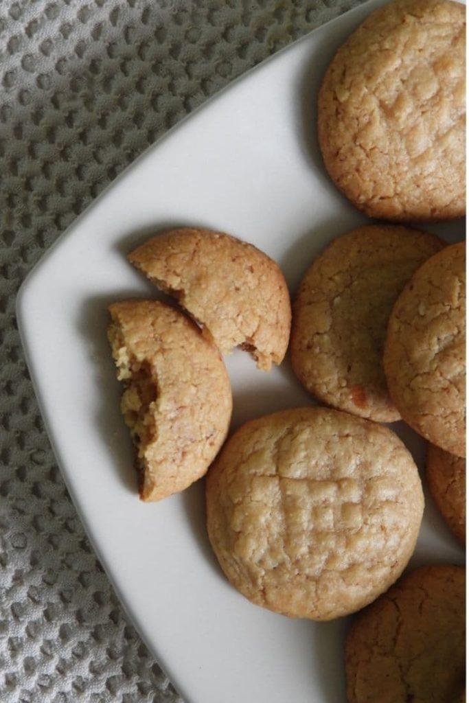 galletas sin haria con mantequilla de mani - interior