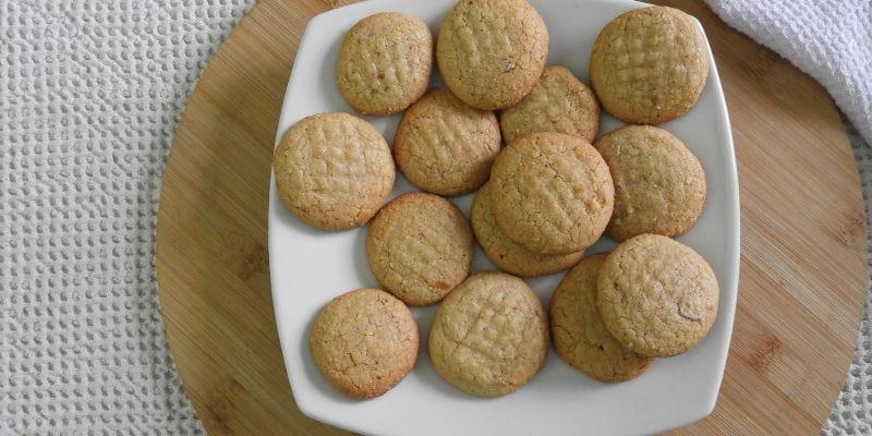 Galletas sin harina de mantequilla de mani