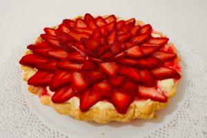 tarta de frutillas sin gluten (sin tacc) apta para celíacos