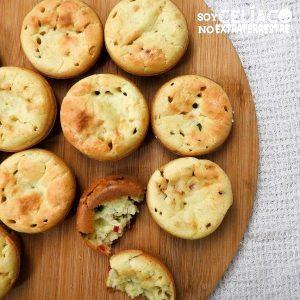 Muffins salados sin gluten