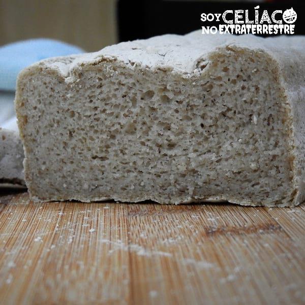 Pan sin gluten elástico