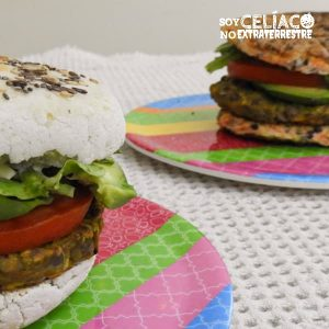 Hamburguesas vegetarianas sin gluten