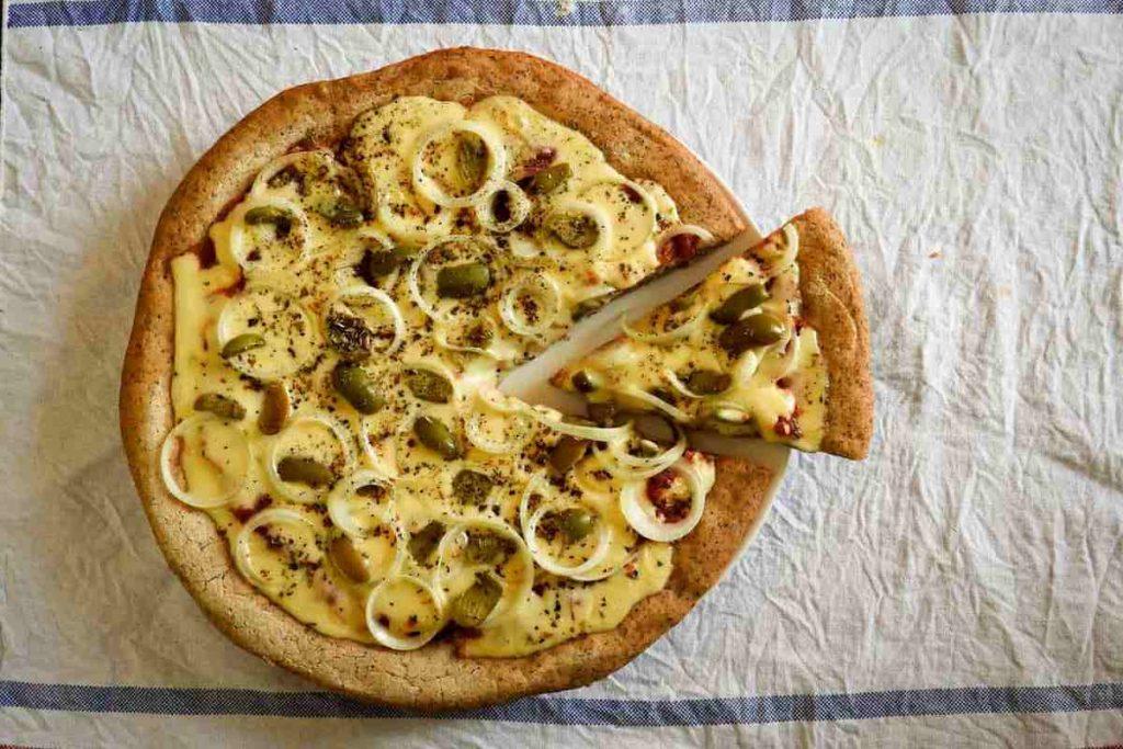 pizza sin gluten apta para celíacos receta fácil con harinas integrales