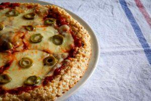 Pizza sin harina - pizza de arroz
