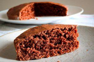 Torta de chocolate y lentejas sin gluten y sin lactosa