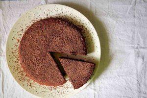 torta sin harina y sin azúcar de chocolate