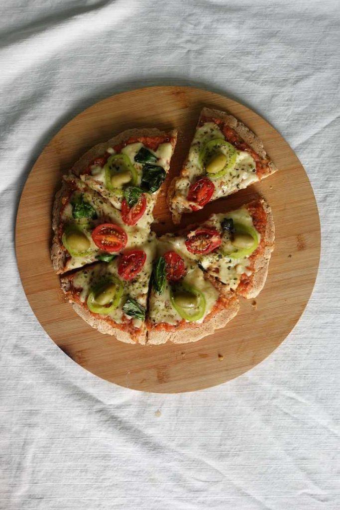 Receta de pizza sin horno apta para celíacos