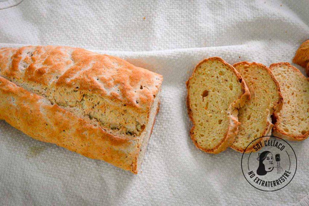 pan para celíacos tipo baguette sin gluten